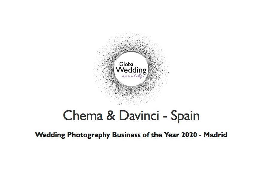 premio fotografía de bodas Lux Global Wedding 2020 Chema & Davinci