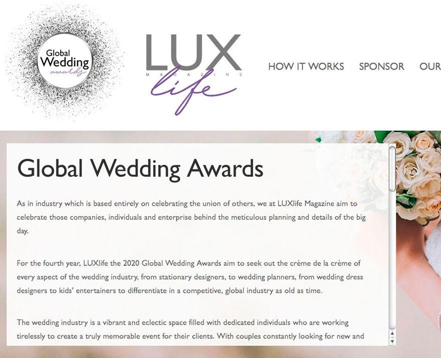 Premio Fotografía de Bodas Wedding Lux Chema & Davinci