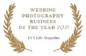 Premio Wedding Photography Business of the Year 2021. Lux Life Magazine