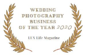 Premio Wedding Photography Business of the Year 2020. Lux Life Magazine